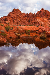 Reflective Nature (James Marvin Phelps) Tags: reflection valleyoffire photography flooding sandstone desert nevada ngc redrocks mojavedesert valleyoffirestatepark landscapephotography jamesmarvinphelpsphotography flashflood jamesmarvinphelps