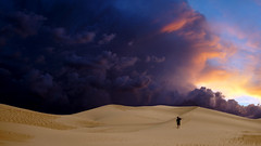Time to go (Donald Palansky Photography) Tags: me storm monsoon 24mmf28 sonyslta99v dunes meandmycamera tripod manfrotto dune donaldpalansky teamsony desert