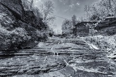 (marina~) Tags: bw water canon waterfall spring conservation hike area beamer grimsby niagaraescarpment