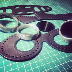 The making of leather goggles at wwe.dieselpunk.ro studios. #postapocalyptic #postapocalypse #steampunk #steampunkmask #leathermask #handmade #LARP #plaguedoctor #plaguedoctormask #dieselpunk #dark #Leather #costume #cosplay #tophat #goggles (tovlade) Tags: black girl face make up leather punk hand mask goth goggles made doctor cyber cybergoth cyberpunk plague larp steampunk postapocalyptic postapocalypse dieselpunk