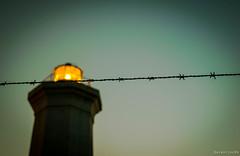 (Salentino84) Tags: light sunset sea lighthouse sunshine faro tramonto mare alba beacon salento luce lecce sancataldo