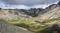 Lakes in High Places (Safarii) Tags: mountain lake snow france mountains alps cold water weather skyline clouds rural walking french outdoors high altitude lakes lac ridge valley scree melt lacs snowmelt glacial briancon glaciallake largentiere larochederame lacdelascension largentierelebessee