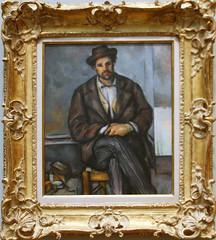 Paul Cezanne - Seated Peasant 1892-96 (ahisgett) Tags: new york art museum met metropolitian