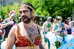 Bearded Lady (drpavloff) Tags: mermaid topless mermaidparade brooklyn coneyisland nudeinpublic sexinpublic naked toplessparade girls nyc nude naturist party sexyblonde tattoogirls toplessgirl boobs umbrella sex sexy longhair wig hot bra braless brunette redhead bikini panties mermaids sun summer parade nudeparade tits sunglasses bodypainting black blackbeauties hats jellyfish tattoo girltattoo bearded lady man