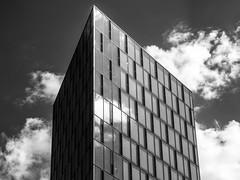 Festo Tower (Kaba264) Tags: windows sky bw wolken grau olympus sw gebude schwarz glas hochhaus festo weis mft ep5