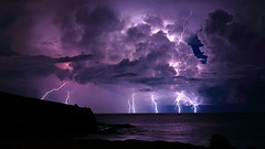The Gods Must Be Crazy (krheesy) Tags: gerroa cloud lightning sky storm weather