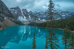 Moraine Lake - Banff National Park (FollowingNature (Yao Liu)) Tags: morainelake banffnationalpark lakelouise canadianrockies banffphotospots banffphotolocations banffphotos jasperphotos morainelakes jaspernationalpark sunrise sunset followingnature lakes nikond800 nikon1635mm cloudyday banfftouristspots