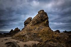 Rock Outcropping -Corona Del Mar, CA (dubland) Tags: beach morning newportbeach calebweston coronadelmar orangecounty pacificocean clouds california color rock gloomy southerncalifornia sea texture detail