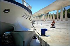 Le long du Paseo del Muelle Dos, Malaga, Andalucia, Espana (claude lina) Tags: claudelina espana spain espagne andalucia andalousie malaga ville town architecture bateau ship boat paseodelmuelledos