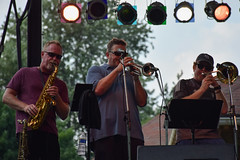 Deeptones Horns (tim.perdue) Tags: comfest 2016 community festival columbus ohio goodale park outdoor summer party short north victorian village downtown urban city band music live concert performance stage musician deeptones funk rb soul horn section trumpet trombone sax alto saxophone lights brass woodwind horns trio three