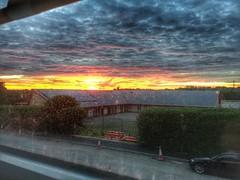Shepards warning (Stu_139) Tags: sun morning warning shepard coventry warwickshire sky red