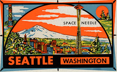 Space Needle Self-Stick Postcard - Seattle, Washington (The Paper Depository) Tags: postcard seattle washington spaceneedle decal sticker impko