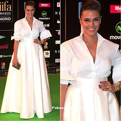 Neha Dhupia in Retro style White H&M Gown @IIFA 2016 (shaf_prince) Tags: actressingowns actressinwhitedresses bollywoodactress bollywooddesignerdresses celebritydresses collargown designerwear eveninggowns gowns nehadhupia
