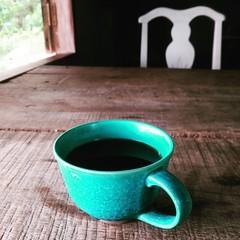 #อากาศซึมๆแก้วต้องสด #กาแฟเย็นชืดช่างมันขอถ่ายรูปก่อน #ดอยแม่สลอง #bright  #แก้วใหม่จริงๆมีจานรองด้วยแต่ถ่ายรูปแล้วดูไม่อาร์ตๆ #ceramics #japan #wabisabi