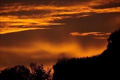 Burning sky over lake Kivu