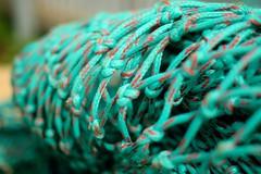 Turquoise netting (35mmMan) Tags: iceland isafjordur dof 50mm nikon d5300 turquoise net fishnet detail abstract pattern