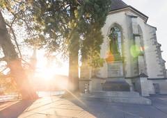 Early July Sunset - Wasserkirche - Zrich - Switzerland (Nonac_eos) Tags: luminositymask zrich photostroll zurich highdynamicrangeimaging sunset lensflare felix regula exposureblending wasserkirche nohdr zwingli svizzera ch