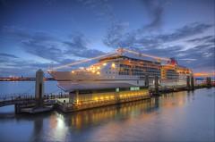 Europa 2 in Liverpool (Jeffpmcdonald) Tags: europa2 hapa hapaglloyd cruiseship liverpool liverpoolcruiselinerterminal rivermersey nikond7000 jeffpmcdonald july2016