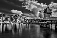 Luzern Film Noir (Mike.Mayer) Tags: olympus penf blackwhite filmnoir luzern switzerland kapellbrcke