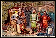 Liebig Tradecard S407 - The Legend of Frithjof 1 (cigcardpix) Tags: tradecards advertising ephemera vintage liebig chromo