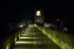 Castle bridge (Jordi Ramon Fotografia) Tags: besal catalonia spain castle night medieval bridge landscape