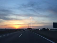 Beautiful sunset  (siew_wei) Tags: sky sun iphone malaysia road sunset