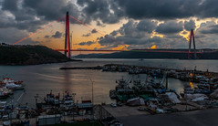 UMT_7721-2 (UmitCukurel) Tags: bridge turkey istanbul bosphorus sony nikon lightroom d750 sonyalpha bogazici kopru night poyrazkoy battleship gemi sky sunset dusk gunbatimi cloud