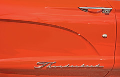 1960 Ford Thunderbird - Door Detail (Brad Harding Photography) Tags: 1960 60 ford thunderbird door chrome red detail closeup fordmotorcompany doorhandle bonnersprings kansas tiblowdays carshow antique automobile vehicle car