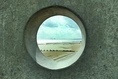 I Couldn't Resist! (geedub611) Tags: coast sea sand groynes seaside beach dymchurch dungeness seadefences seawall concrete hole