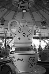 Time for Tea (Stace_xoxo) Tags: summer2016 clouds canon1200d canon magickingdom florida disneyflorida castle 1200d 22mm light people summer aliceinwonderland teaparty blackandwhite