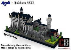 Lego_Custom_Architecture_Schloss_Neuschvanstein_BA2 (LA-Design2012) Tags: lego custom moc city architecture schloss custombricks bauanleitung instruction 21022 21023 21024 21026 21027 21028 21029 21030