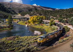 Union Pacific near Bond, CO (Brandon Townley) Tags: trains railroad up unionpacific coal coloradoriver raft rafting rafters rockymountains rockies mountains fall autumn