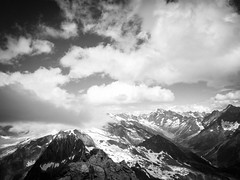 View from Hockenhorn summit (Anneke van Beek) Tags: blackwhite hockenhorn kandersteg switzerland zwitserland hiken zwartwit