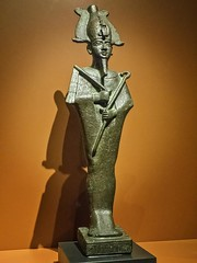 Bronze Figurine of Osiris Egypt 26th Dynasty - Ptolemaic Dynasty Late Period - Ptolemaic Period 664-32 BCE (mharrsch) Tags: figurine bronze statue sculpture osiris god deity religion worship funeraryart 26thdynasty ptolemaicdynasty lateperiod ptolemaicperiod egypt ancient nelsonatkinsmuseum kansascity missouri mharrsch