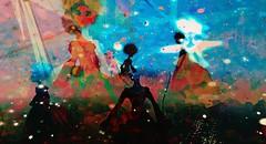 Ritual virtuality / Artist : Cica Ghost (Bamboo Barnes - Artist.Com) Tags: cicaghost doll fantasy lea secondlife art installation surreal dark star vivid light shadow blue black red orange bamboobarnes virtualart digitalart