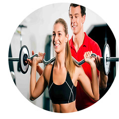 Woman with Personal Trainer in gym (topav1foryou) Tags: gym barbell trainer woman workout exercise exercising fitness couple man strength training coach person people young lift lifting weight power powerful sport sportive muscles muscular health active body bodybuilding attractive beautiful recreation club strengthen adult personal coaching fun help instruction instructor personaltrainer gymnastics powergymnastics fit germany