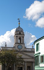 cupola and cumulus (i_gallagher) Tags: idg 2016 norwich londonstreet cumulus cupola architecture bank solid weathervane light