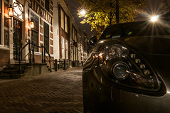 Alfa Giulietta @ Delft (PaulHoo) Tags: street city longexposure nightphotography urban holland building car architecture night evening italian nikon cityscape nightshot delft le citylights alfa lightroom giulietta d300s