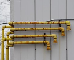 Yellow Pipes (jmaxtours) Tags: toronto yellow pipes rusty torontoontario rustypipes yellowpipes