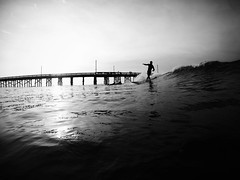 That Magical Dance (c_kreature) Tags: ocean california ca blackandwhite bw beach water waves surfer surfing newportbeach orangecounty theoc norrinradd longboarder surfphotography oceanphotography crossstep blackedition orangeco waterphotography longboardsurfing longboardsurfer surferphotos goprohero4