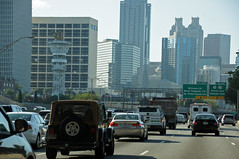 Olympic torch tower, Atlanta, GA (SomePhotosTakenByMe) Tags: auto city atlanta vacation usa holiday tower car skyline america georgia traffic unitedstates urlaub stadt olympia olympics amerika turm verkehr ontheroad olympictorch olympischespiele olympictorchtower