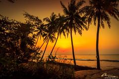 Sunset Carita (anjar wisnubroto) Tags: sunset beach indonesia landscape siluet pantai karang carita anyer bolong banten shilluete