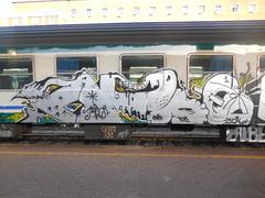 DSCN9876 (en-ri) Tags: train writing torino graffiti grigio 14 crew arrow 13 yob 2014 duen haiz