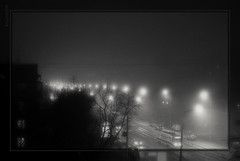SONY DSLR-a330 (@Tem) Tags: autumn bw fog contrast blackwhite key russia outdoor moscow low september lowkey lowcontrast