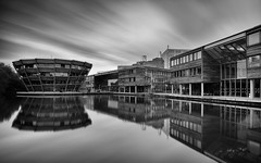 LE Campus.... (klythawk) Tags: nottingham longexposure white black grey nikon universityofnottingham d610 1835mm jubileecampus stackedfilters bwnd klythawk 10stop6stop