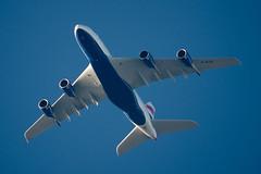 British Airways Airbus A380-841 G-XLEC (Thames Air) Tags: british airways airbus a380841 gxlec contrails telescope dobsonian overhead vapour trail