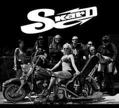 SKARD rock band with harley