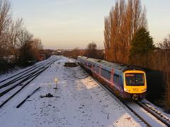 Class 170/3. 170303 (mike_j's photos) Tags: snow station first railway dmu swinton class170 170304 transpenine 170303