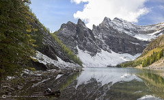 LAKE AGNES (mark_rutley) Tags: sky lake snow canada clouds rockies hiking lakes lakelouise mountians lakeagnes treck hikes treking canadianrockies