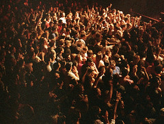 crowd (Sexy Accidents) Tags: new york city film 35mm canon point lights concert theater shoot shot zoom crowd band best dirt aid heads buy sure rite 85 bongos